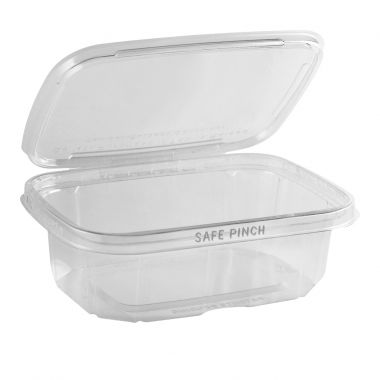 Safe Pinch Tamper Evident Rectangle Hinged Container (710ml)