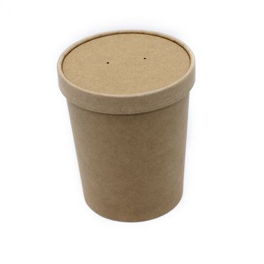 BetaKraft™ 32oz Round Container with Lid