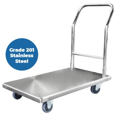 Grade 201 SS Platform Trolley (850 x 545mm)